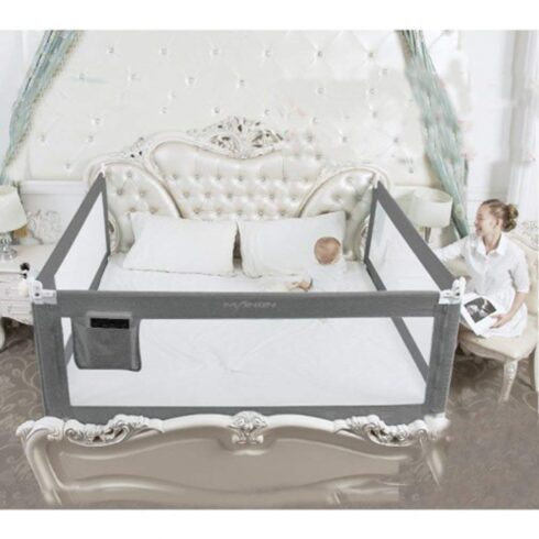 3 Set King (2 Set for 2 Length Side of The Bed and 1 Set for Feed Size of The Bed) Size Bed Safety Bed GuardRail Bed Fence for Children