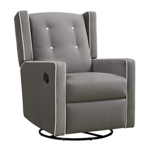 Baby Relax Mikayla Upholstered Swivel Gliding Recliner