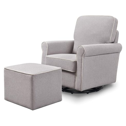 DaVinci Maya Upholstered Swivel Glider and Ottoman