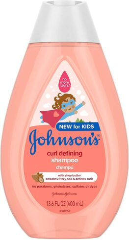 Johnson's Curl-Defining Tear-Free Kids' Shampoo with Shea Butter,