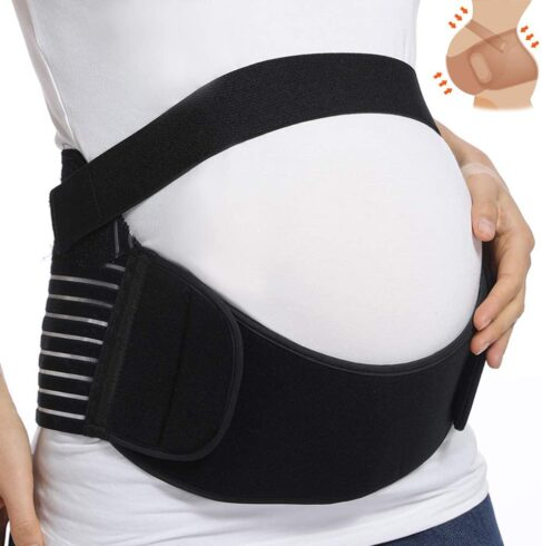 KIWI RATA Maternity Belt Waist Abdominal Back Belly Band Pregnancy Belt Support Brace Postpartum Recovery Belt Girdle Belly Binder