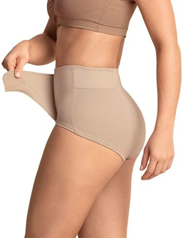 Leonisa C-Section Postpartum Girdle High Waist Panty with Adjustable Belly Wrap
