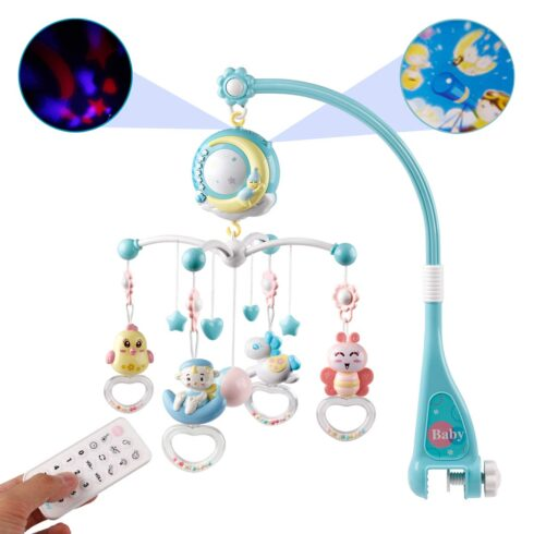 Mini Tudou Baby Musical Mobile Crib with Music and Lights