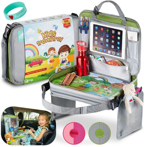 funtasit Kids Travel Tray All-in-One Carry Bag, Play Table