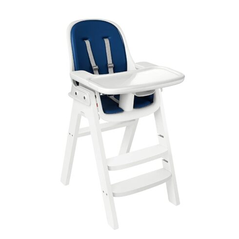 OXO Tot Sprout Chair with Tray Cover, Navy and White