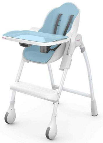 Oribel Cocoon 3-Stage Easy Clean, Contemporary High Chair (Blue)