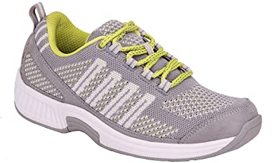 Orthofeet Best Plantar Fasciitis Shoes. Proven Foot and Heel Pain Relief. Extended Widths. Orthopedic, Diabetic, Bunions Women's Sneakers, Coral