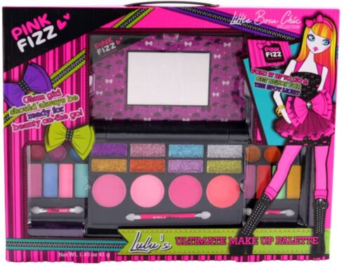 Pink Fizz Girls All-In-One Deluxe Makeup Palette With Mirror