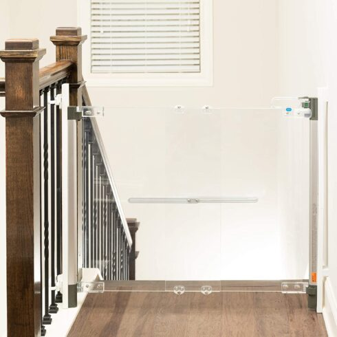 Qdos Crystal Designer Baby Safety Gate - Meets Tougher European Standards Modern Design and Unparalleled Safety