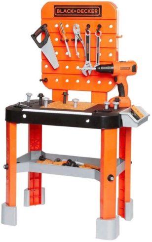 BLACK+DECKER Junior Power Workbench Workshop with Realistic Action Lights & Sounds - 64 Tools & Accessories [Hotsaleonline], 38