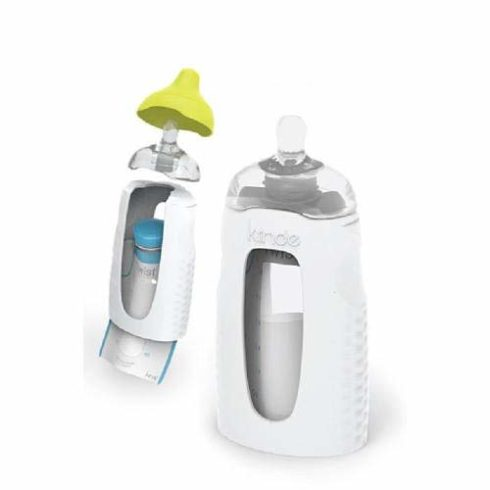Kiinde Twist Squeeze Natural Baby Breast Milk Feeding Bottle with Nipples and Case (2 Pack)