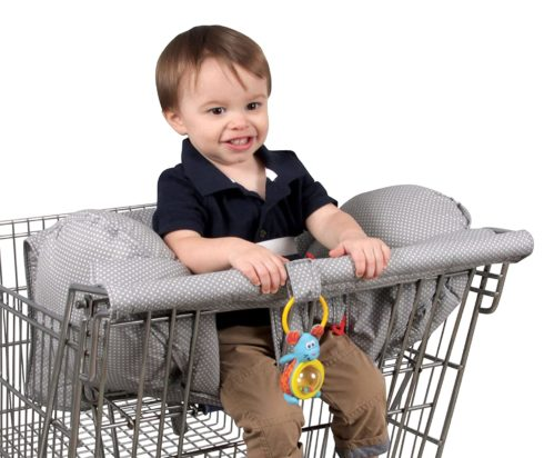 Leachco Prop 'R Shopper Shopping Cart Cover, Gray Pin Dot