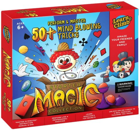 Learn & Climb Magic kit Set for Kids - 50+ Magic Tricks. Clear Instruction Manual & DVD