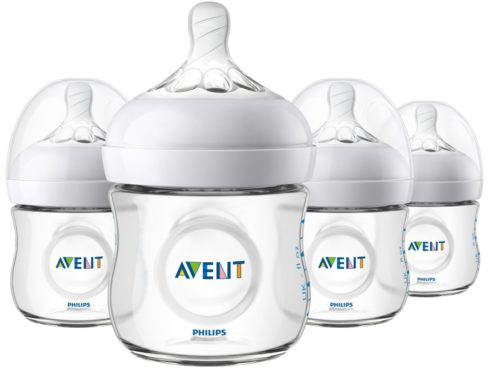 Philips Avent Natural Baby Bottle, Clear, 4 Oz, 4pk
