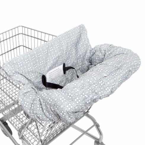 Waterproof 2-in-1 Baby Shopping Cart Cover & High Chair Covers with Safety Harness for Babies & Toddler