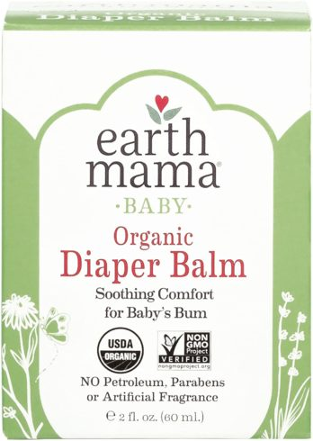 Organic Diaper Balm by Earth Mama Safe Calendula Cream to Soothe and Protect Sensitive Skin, Non-GMO Project Verified, 2-Fluid Ounce