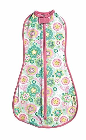 Woombie Original Baby Swaddle, Spring Fling, Big Baby 14-19 Pounds, 3-6 Months